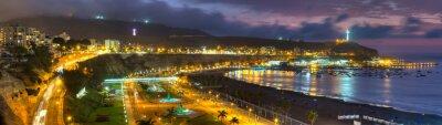 Fototapeta Panoramiczny widok z HDR Chorrollos Bay w Limie, Peru.