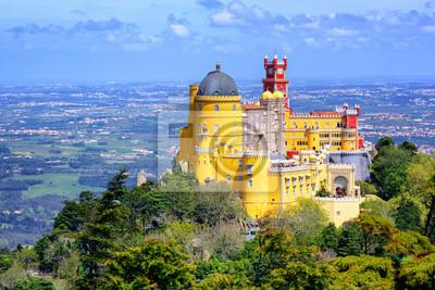 Fototapeta Panoramiczny widok z pałacu Pena, Sintra, Portugalia