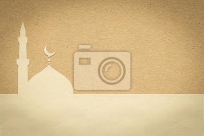Fototapeta Papier meczet, papieru projektowania dla internetowych, naklejki, etykietki