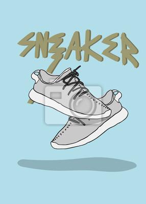d585a20e95d16 Fototapeta Para butów sportowych sneaker sneaker ilustracja modny design