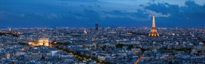 Fototapeta Paris à l'heure bleue