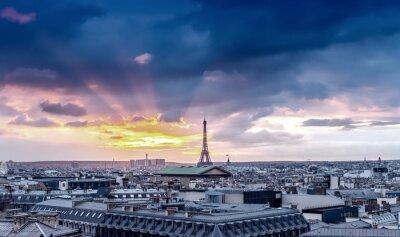 Fototapeta Paris skyline. Detal architektoniczny miasta