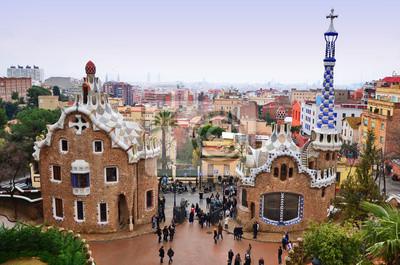 Park Guell w Barcelonie, Hiszpania