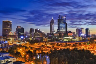 Fototapeta Park Perth CBD sunrise