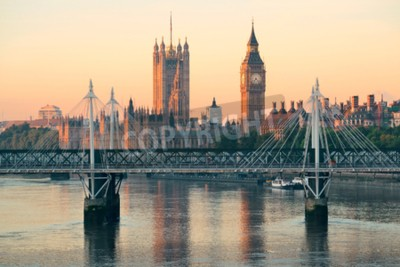 Fototapeta Parlament Parlamentu w Westminster w Londynie.