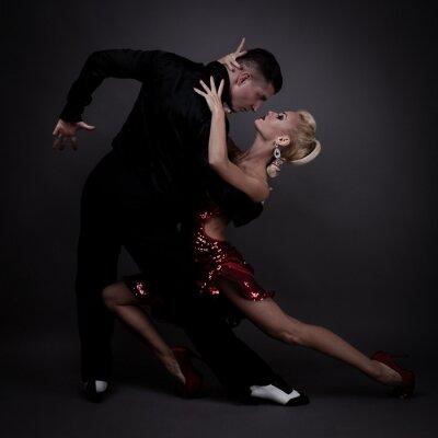 Fototapeta partnerzy tańca