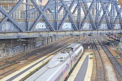 Fototapeta Paryż, Francja, 09 lutego 2016: stacja kolejowa Nord w Paryżu, Francja