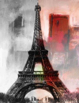 Fototapeta Paryż Gemälde Eiffelturm Eifelturm Bild Kunst Ölgemälde