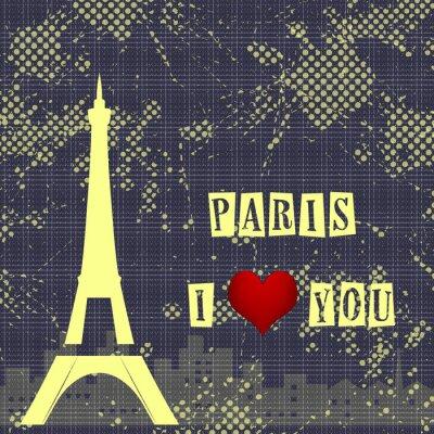 Fototapeta Paryż - miasto miłości i romantyzmu