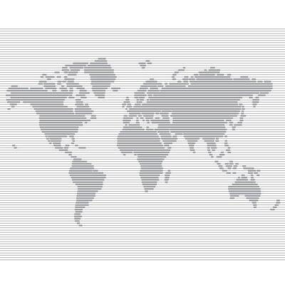 Fototapeta paski linia mapa świata szablon