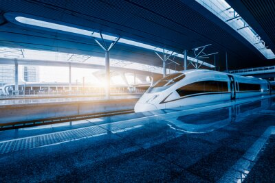 Fototapeta pędzącego pociągu