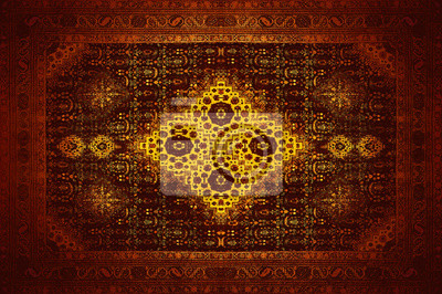 Fototapeta Perski Dywan Tekstury Abstrakcyjny Ornament Romb Mandala Wzór