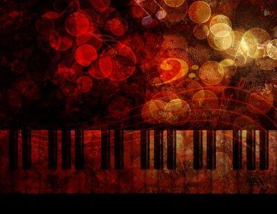 Fototapeta Piano Keyboard Grunge Background Ilustracja