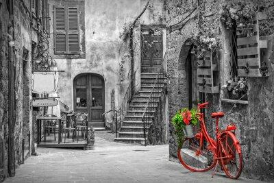 Fototapeta Piękna aleja w Tuscany, Stary miasteczko, Włochy