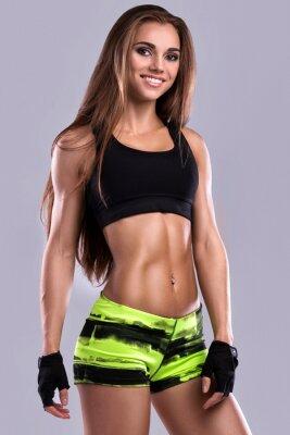 Fototapeta Piękna dziewczyna fitness