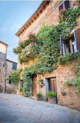 Fototapeta Piękna ulica Montisi, Toskania