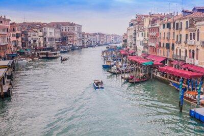 Fototapeta Piękna woda ulicy - Canal Grande w Wenecji, Włochy