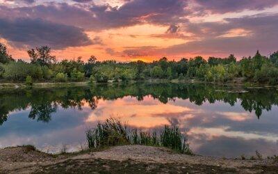 Fototapeta Piękne jezioro na Słowacji