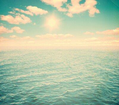Fototapeta Piękne niebo i błękitne morze