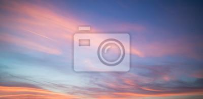 Fototapeta Piękne pastelowe zachmurzenie słońca