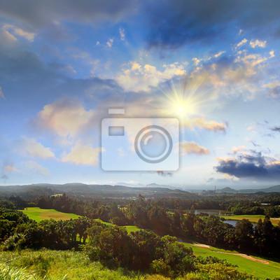 Fototapeta Piękne pole golfowe dla adv lub inne wykorzystanie przeznaczenia