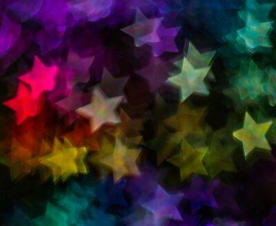 Fototapeta Piękne tła z różnych gwiazdą kolorowe, abstrakcyjne tła, star kształty na czarnym tle