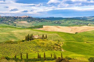 Fototapeta Piękny krajobraz w Toskanii we Włoszech