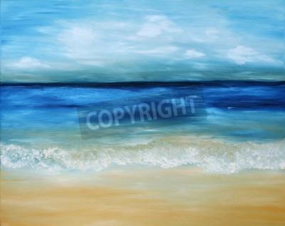 Oil Painting Sepia Sea