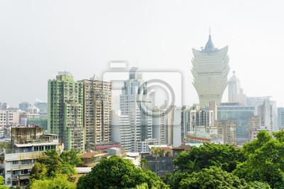 Fototapeta Piękny widok miasta Macau kasyna i budynki