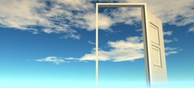 Fototapeta Piękny widok na niebo. Drzwi do nieba.