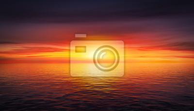 Fototapeta Piękny zachód słońca latem