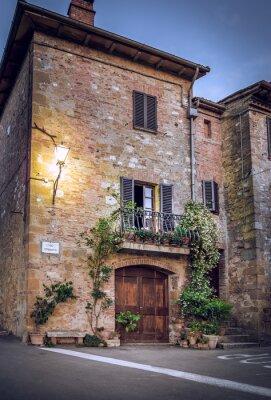 Fototapeta Pienza w nocy, Toskania