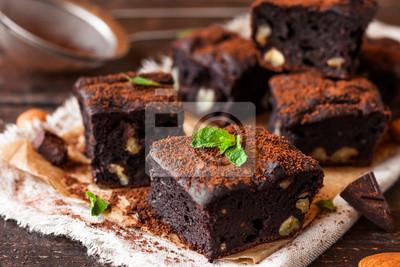 Fototapeta piernik czekoladowy z orzechami
