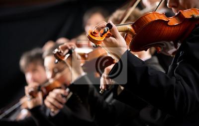 Fototapeta Pierwsza sekcja skrzypiec orkiestry