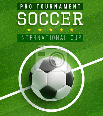 Fototapeta Piłka Nożna Mecz Plakat Szablon Z Piłki Nożnej