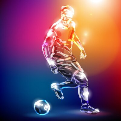 Fototapeta piłka nożna WEKTOR
