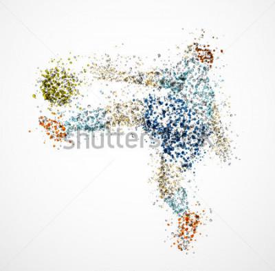 Fototapeta Piłkarz, kopnij piłkę. EPS 10