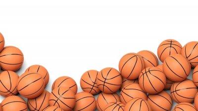 Fototapeta Piłki do koszykówki na białym tle