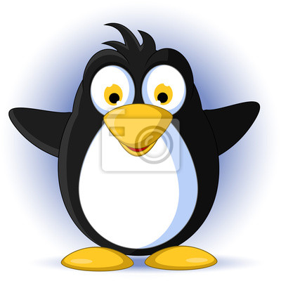 Fototapeta Pingwin kreskówki Happy Baby