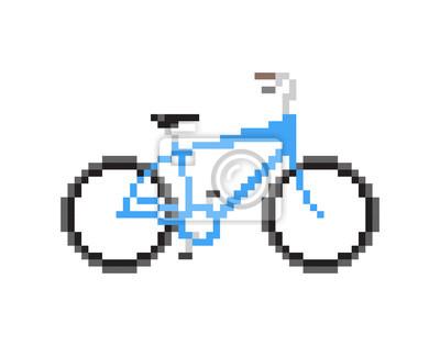 Fototapeta Pixeled niebieski rower - pojedyncze ilustracji wektorowych