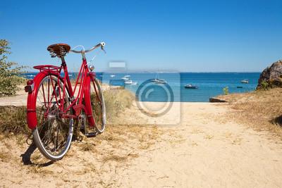Fototapeta Plage de Noirmoutier et ses Vélos