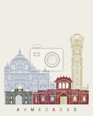Fototapeta Plakat panoramiczny Ahmedabad