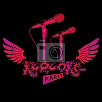 Fototapeta Plakat Reklamowy Z Karaoke Ulotka Koncertowa Z Muzyką Na żywo