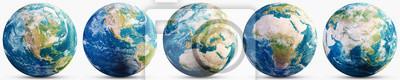 Fototapeta Planet Earth geography map set