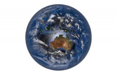 Fototapeta Planeta Ziemia z Chmury i Atmosfera. Australia Widok