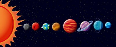 Fototapeta Planety w Układzie Słonecznym