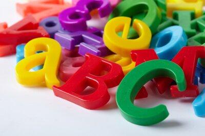 Fototapeta Plastikowe litery alfabetu