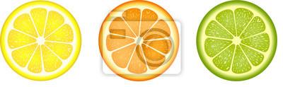 Fototapeta Plastry owoców cytrusowych