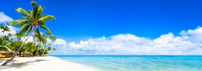 Fototapeta Plaża panorama z turkusowego morza