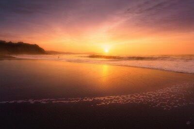 Fototapeta Plaża Sopelana o zachodzie słońca